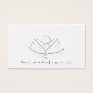 Carte de visite gris simple de fleur de Lotus