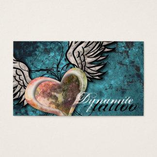 Carte de visite grunge de tatouage d'ailes de