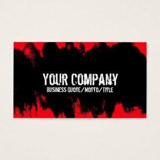 Carte de visite grunge rouge