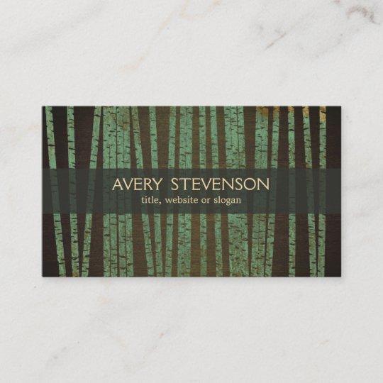 Carte De Visite Gurisseur Holistique En Bambou Vert Thrapeute