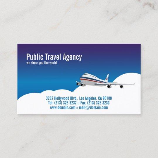 Carte De Visite Guide Touristique Pilote Dagence Voyages