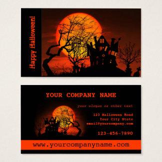 Carte de visite hanté de Halloween de Chambre