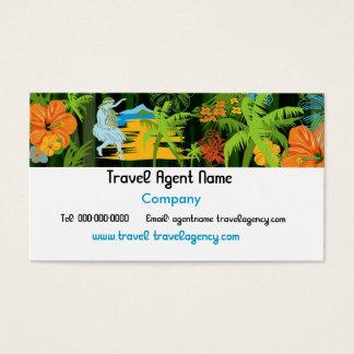 Carte de visite hawaïen de voyage