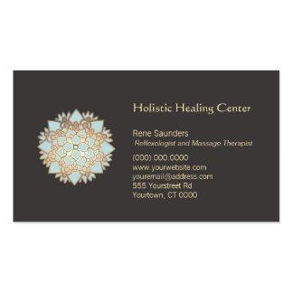 Carte de visite holistique bleu d'arts curatifs de