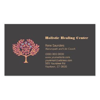Carte de visite holistique d arbre de santé et de