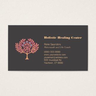 Carte de visite holistique d'arbre de santé et de