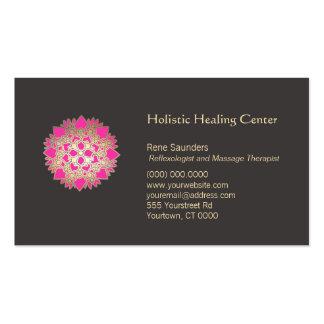 Carte de visite holistique rose d arts curatifs de
