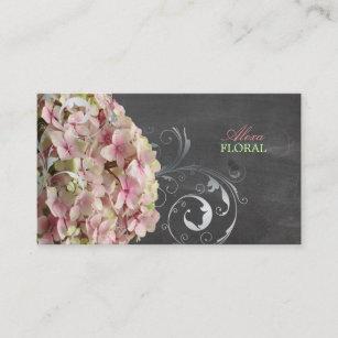 Carte De Visite Hortensias Roses PixDezines Fleuristes Tableau