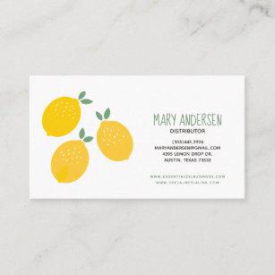 Carte De Visite Huile Essentielle Trois Citrons