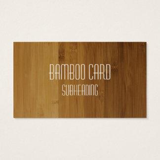 Carte de visite imprimé par bambou