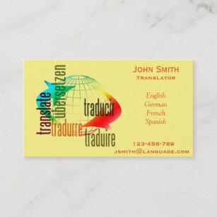 Carte De Visite Interprete Independant Langue Traducteur
