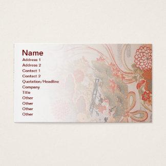 Carte de visite japonais de tissu