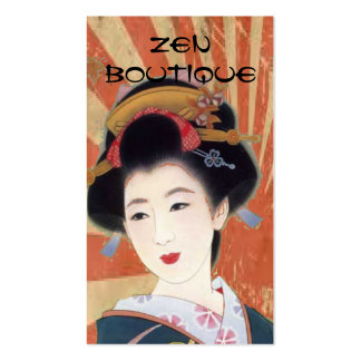 carte de visite japonais vintage de boutique de
