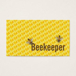 Carte de visite jaune d'apiculteur d'abeilles de