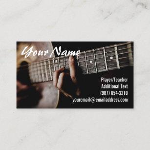 Carte De Visite Joueur Guitare