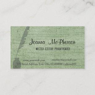 Carte De Visite Journaliste Antique La Mode Rdacteur