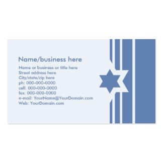 Carte de visite juif d'étoile de David bleue