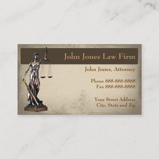 Carte De Visite Juridique Symbole Mandataire
