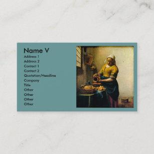 Carte De Visite Lait Se Renversant La Bonne Vermeer Circa