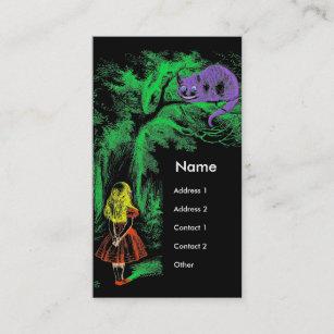 Carte De Visite Le Chat Cheshire Alice