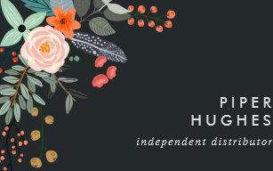 Carte De Visite Le Distributeur Floral Produit Lvre Boho