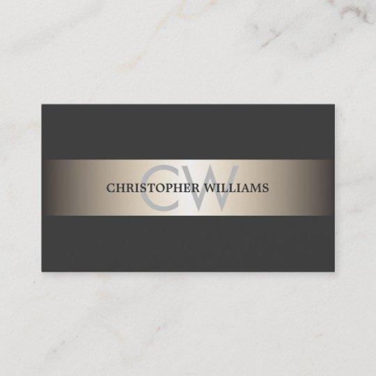 Carte De Visite Le Gris Elegant Moderne Barre Consultant En