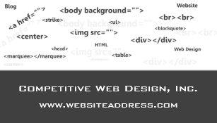 Carte De Visite Le HTML Codent La Conception