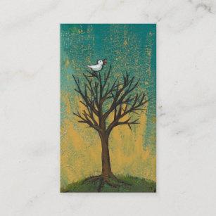 Carte De Visite Le Petit Oiseau Chante La Peinture Assez Originale