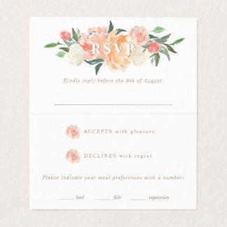 Carte De Visite Le ressort rougissent l'aquarelle sage RSVP floral