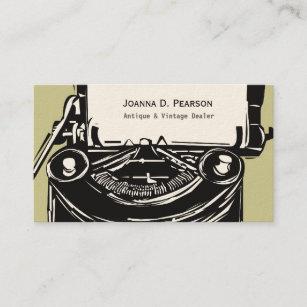 Carte De Visite Le Rve Lauteur Machine Crire Vintage