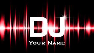 Carte De Visite Le Rouge Moderne Du DJ Bat La Musique