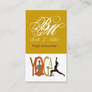 Carte De Visite Le Yogi Decore Dun Monogramme Yoga A Adapte La