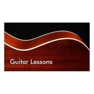 Carte de visite : Leçons de guitare