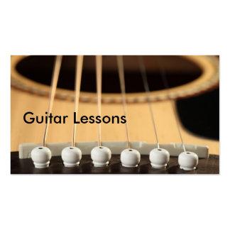 Carte de visite Leçons de guitare