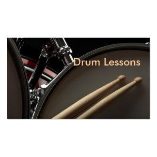 Carte de visite : Leçons de tambour