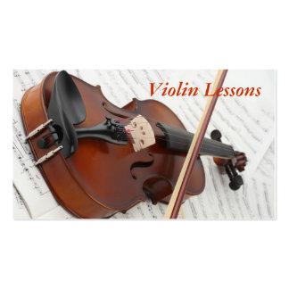 Carte de visite : Leçons de violon