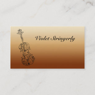 Carte De Visite Linformation Contact Violoniste