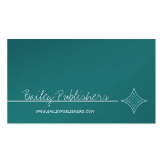 Carte de visite lisse de diamant, turquoise