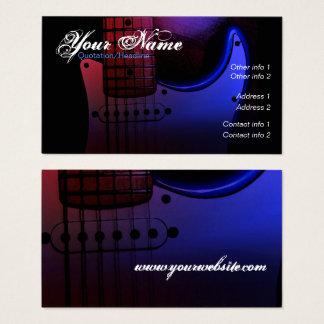Carte de visite lisse de musicien de guitare
