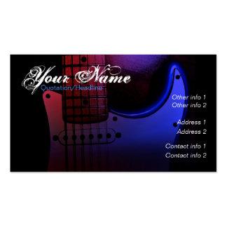 Carte de visite lisse de musicien de guitare élect