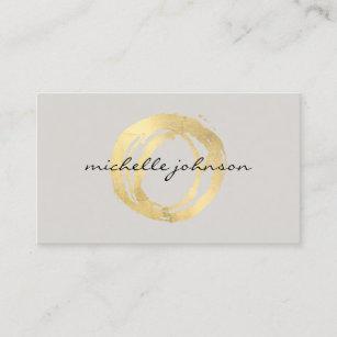 Carte De Visite Logo Concepteur Cercle Peint Par Or Luxe