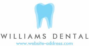 Carte De Visite Logo Moderne Dent Dentiste Sur Le Blanc