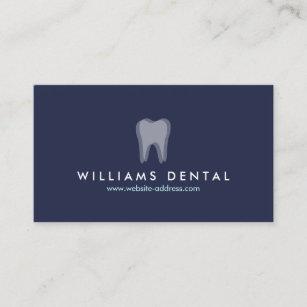 Carte De Visite Logo Moderne Dent Dentiste Sur Le Bleu