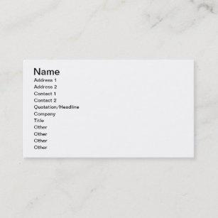 Carte De Visite LONU Peu Conception Pour Une Robe Pays Par