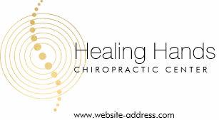 Carte De Visite Lor Abstrait Chiropractie Entoure Le Logo