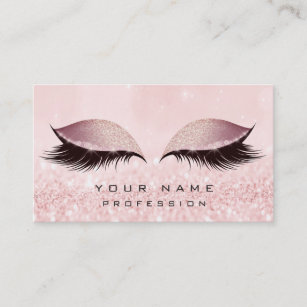 Carte De Visite Lor Maquillage Rougissent Extension Rose