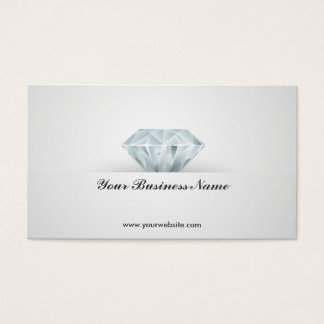 Carte de visite lumineux de bijoux de diamant