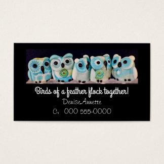 carte de visite lunatique de perle de hibou