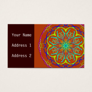 Carte de visite magique de mandala de fleur