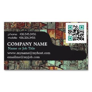 Carte De Visite Magnétique Abrégé sur moderne professionnel code d'entreprise